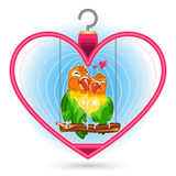 Valentine Love Bird Stock Photo