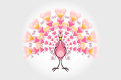 Valentine Love Bird Peacock Royalty Free Stock Photography