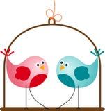 Valentine Love Birds sveglio Fotografia Stock Libera da Diritti