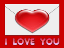 Valentine love card (12) Stock Photography