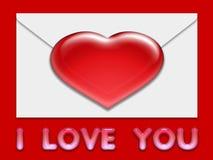 Valentine love card (12) Stock Photography