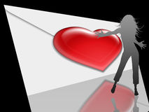 Valentine love card (14) Royalty Free Stock Photography