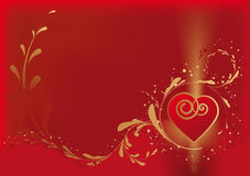 Valentine love card Stock Photography