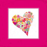 Valentine love card. Vector illustration of Valentine love card with heart of flowers Royalty Free Stock Photos