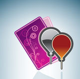 Valentine/Love Card & Balloons Royalty Free Stock Photography