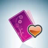 Valentine/Love Card & Bottle of Wine Stock Image
