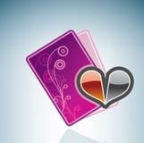 Valentine/Love Card & Broken Heart Stock Image