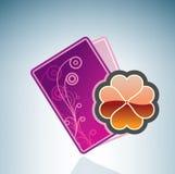 Valentine/Love Card & Clover Stock Photo