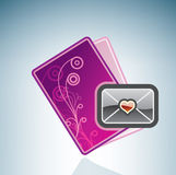 Valentine/Love Card & Envelope Royalty Free Stock Photography