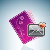 Valentine/Love Card & Envelope Stock Photo