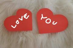 Valentine love card Stock Photos