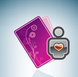 Valentine/Love Card & a User Royalty Free Stock Photo