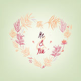 Valentine love card 03 A Royalty Free Stock Images