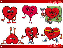 Valentine and love cartoon set Royalty Free Stock Photography
