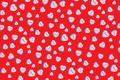 Valentine love conversation heart candy wallpaper Sweet Love. Heart candy red background romantic sweets Stock Photo
