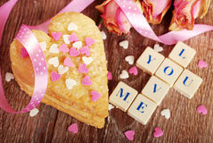 Valentine love declaration Stock Image