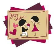 Valentine Love Doodle feliz Imagen de archivo