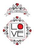 Valentine love doodles Stock Photos