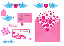 Valentine Love elements  Royalty Free Stock Image