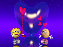 Valentine love, Emoticon Stock Image