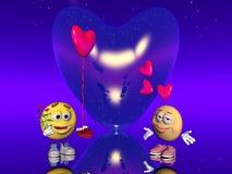 Valentine love, Emoticon Stock Image