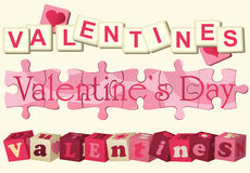 Valentine love games Stock Photography