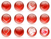 Valentine love glossy balls Royalty Free Stock Photos
