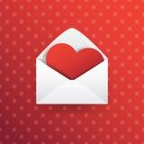 Valentine Love Heart Imágenes de archivo libres de regalías