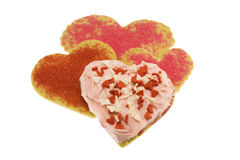 Valentine love heart cookies Stock Photos