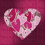 Valentine love heart greeting card. Valentine day love heart concept greeting card background. Vector illustration layered for easy manipulation and custom Stock Photos