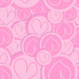 Valentine love heart pattern Royalty Free Stock Photos