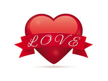 Valentine Love Heart Vector Illustration Royalty Free Stock Photos