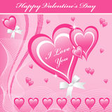 Valentine love hearts pink Royalty Free Stock Photography