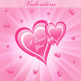Valentine love hearts pink Stock Image