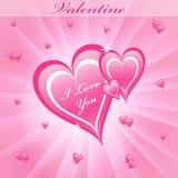 Valentine love hearts pink Stock Image