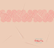 Valentine Love hearts retro background Royalty Free Stock Images