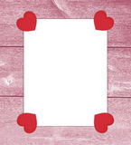 Valentine love letter with hearts. Stock Image
