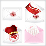 Valentine love letters Stock Photo