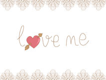 Valentine love me background Royalty Free Stock Image