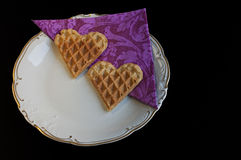 A Valentine love meal Royalty Free Stock Photos