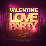 Valentine love party background Stock Images