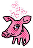 Valentine love piggy Royalty Free Stock Photos