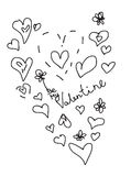 Valentine love postcard. With hand written text available in  vector format Stock Image