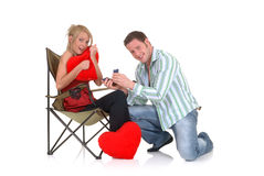 Valentine love, proposal Stock Photo