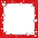 Valentine love romantic frame Stock Images