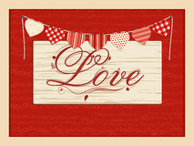 Valentine love script background Royalty Free Stock Photos