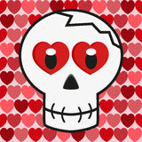 Valentine love skull Stock Photography