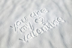 Valentine love in the snow Royalty Free Stock Photography