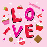 Valentine Love Sweetheart Cute Cartoon-Vector stock illustratie