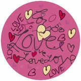 Valentine love text circle Royalty Free Stock Photo